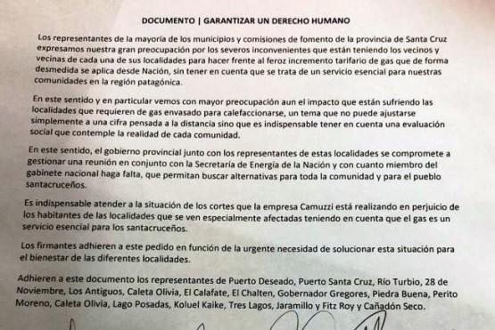 Provincia se comprometió ante intendentes a gestionar una reunión con Nación por tarifas de gas