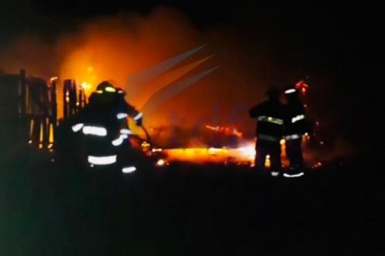 Incendio destruye una chacra