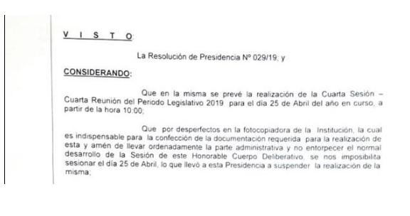 La resolución del HCD.