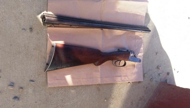 El rifle fue secuestrado por el personal de la Seccional Séptima.