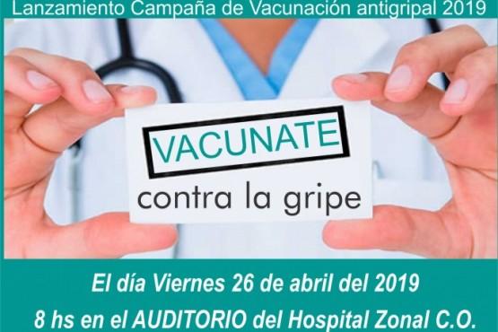 Lanzan la campaña de vacunación antigripal