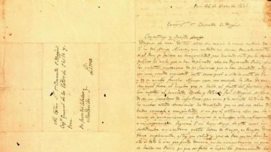 Chile reclama la carta de San Martín a O'Higgins