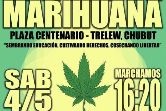 Mañana habrá una marcha por la marihuana en Trelew