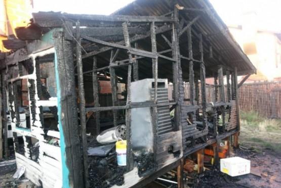 Incendio destruyó una vivienda