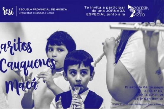 La Escuela de Música RE SI se presentará en el Barrio San Benito
