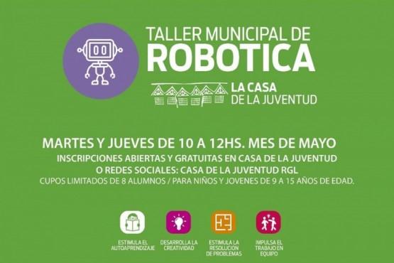 Comenzó el taller de robótica para niños en la Casa de la Juventud