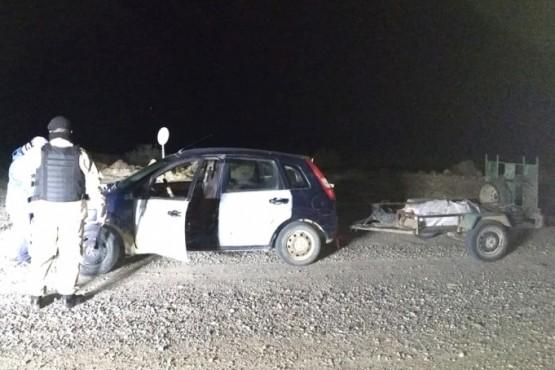 El carro y la carne faenada clandestinamente que no fueron secuestrados por el DOR.