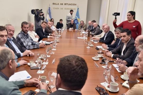 Rawson se reunió en el Gabinete Provincial