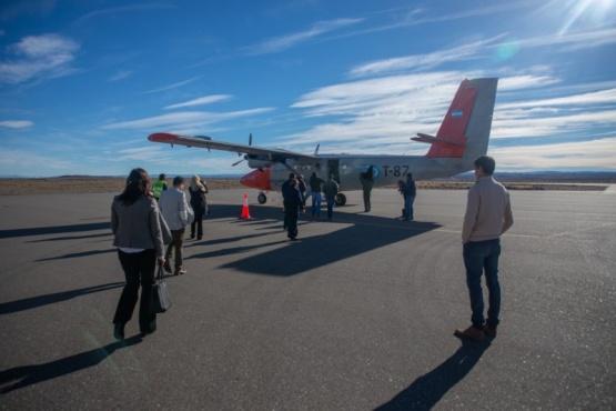 LADE comenzó a volar en Perito Moreno