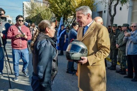 Arcioni entregó 60 motocicletas para el personal de la fuerza policial
