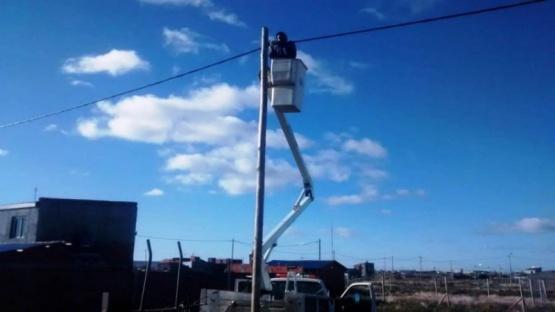 Concretaron obras de línea baja en barrios de Río Gallegos
