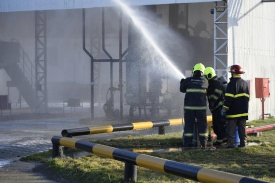 Áreas de Seguridad participaron del simulacro de YPF