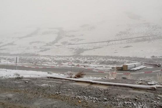 Nieve en zona de represas