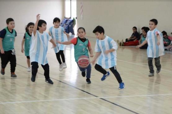 Los más chicos participaron del encuentro de Mini Básquet