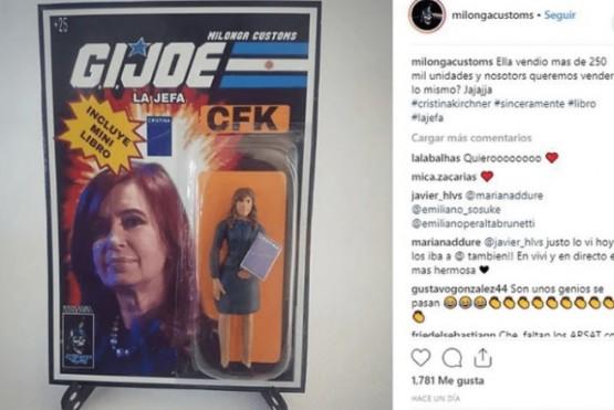 Venden la muñeca de Cristina Kirchner