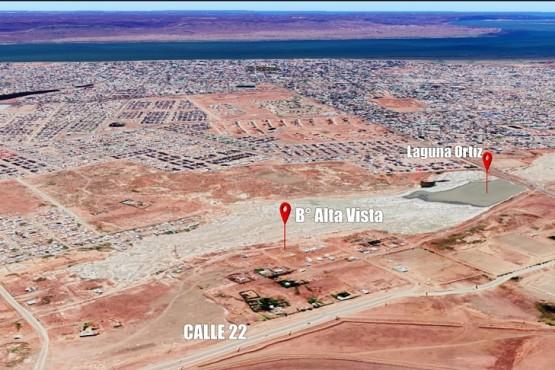 Imagen satelital del barrio Alta Vista