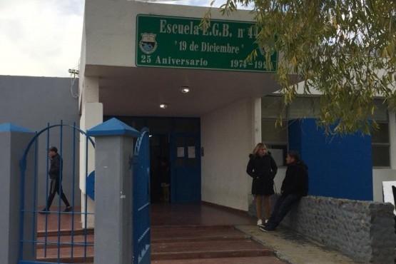 Por pérdida de gas, suspendieron las clases en la EPP N°44