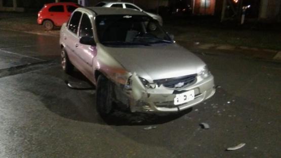 Choque en la ciudad: un conductor llevado al hospital