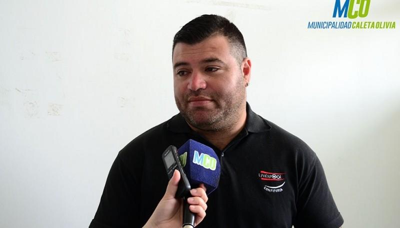 Presidente de la Comisión de Boxeo de la localidad, Roberto Acosta