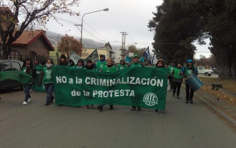Movilización de ATE.