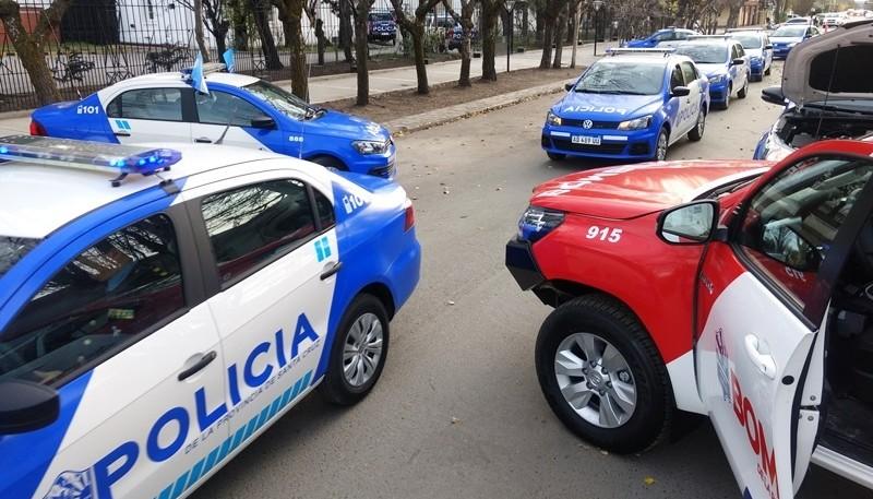 Los patrulleros fueron entregados a los Jefes de Comisaría. (Foto: C.G.)