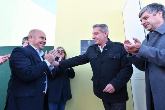 Arcioni inauguró la nueva cisterna en la zona norte de Playa Unión
