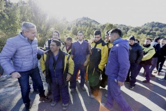 Arcioni inauguró el primer tramo de la Ruta Nº 71