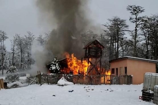 Devastador incendio en Tolhuin
