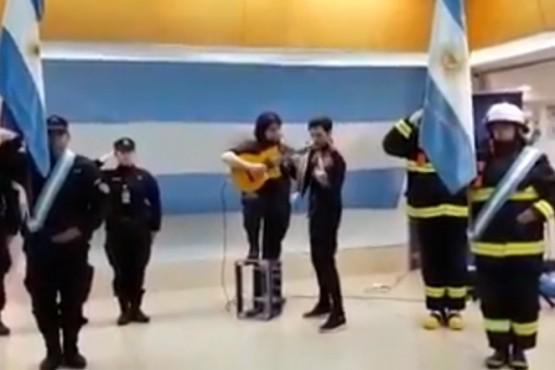 Captura del video compartido por Eduardo Costa