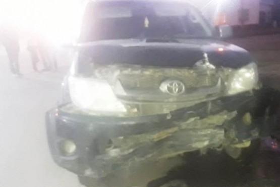 Una mujer resultó herida tras fuerte colisión