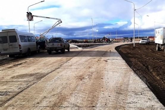 Ultimos trabajos sobre rotonda de Ruta 53 y Calle 13