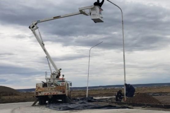 SPSE culmina trabajos de luminaria en distintos barrios