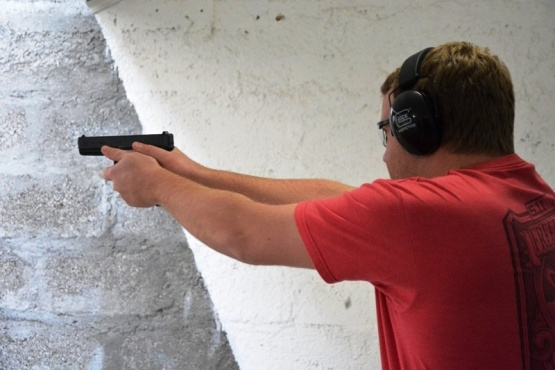 Martín Buczek fue segundo en Pistola 9mm.