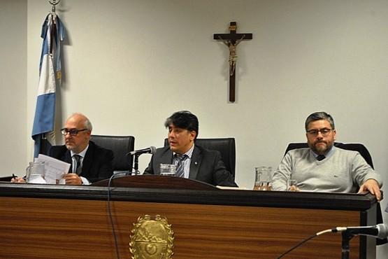 González estuvo representado por el Dr. Santiago Lozada. (Foto: J.C.C.)