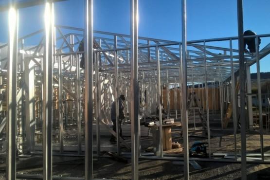 Avanza la construcción de la nueva escuela de Julia Dufour