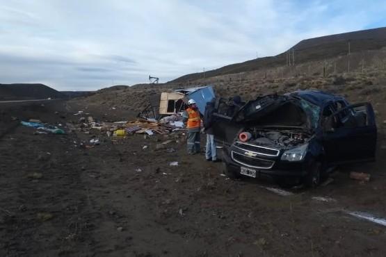 Una mujer de Comodoro murió en un vuelco en la ruta 26