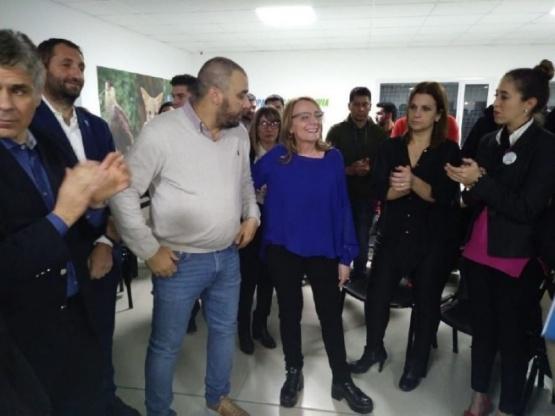 Destacaron la importancia de la obra del gimnasio municipal en Caleta Olivia