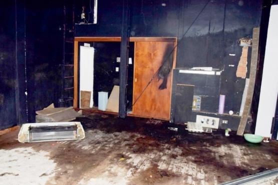 Algunos de los daños provocados por los sospechosos.