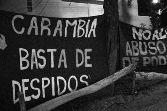 Sigue el acampe municipal en Las Heras, por salarios y frente a la intimación de desalojo