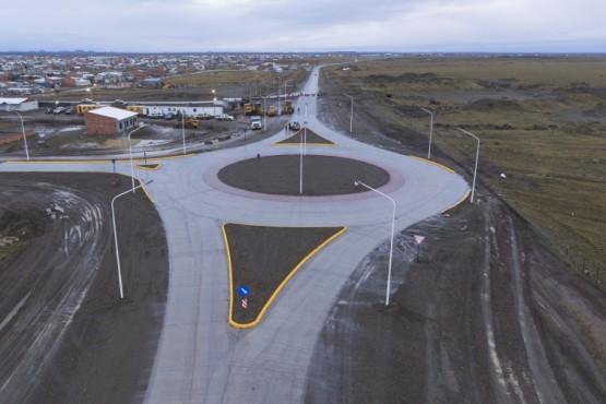 Quedó inaugurada la rotonda de acceso al San Benito