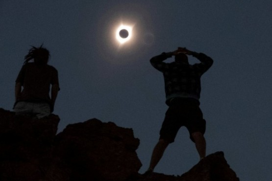 Así se vio el último eclipse solar en los Estados Unidos, en 2017.