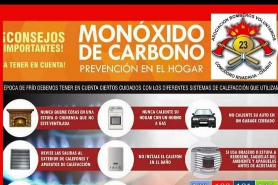Campaña de prevención de incendios y monóxido de carbono
