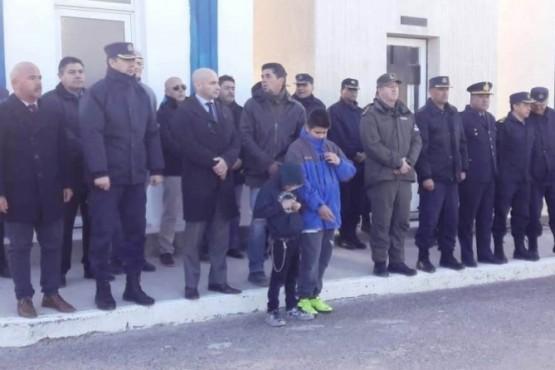 Policía del Chubut rindió homenaje a un Cabo Primero caído en cumplimiento del deber