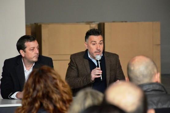 El ministro Perincioli compartió la recorrida con su par de la Producción. (C. R)