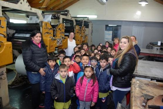 Los niños del Jardín 16 visitaron Tiempo Sur