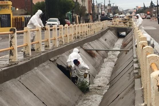 Limpieza de pluviales para prevenir inundación