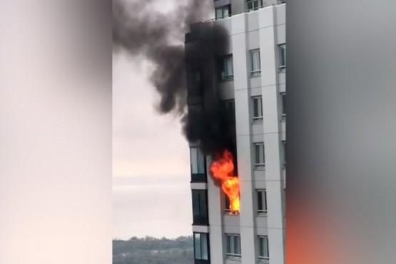 Se incendió un departamento en Puerto Madero