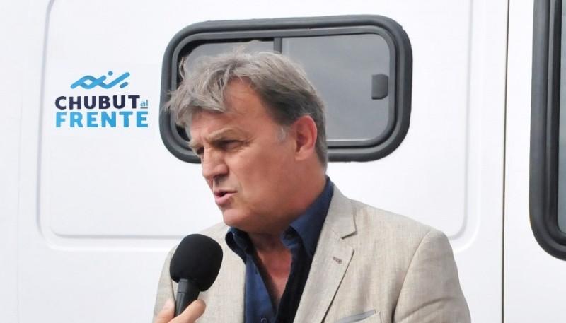 El presidente de Chubut Somos Todos, Máximo Pérez Catan
