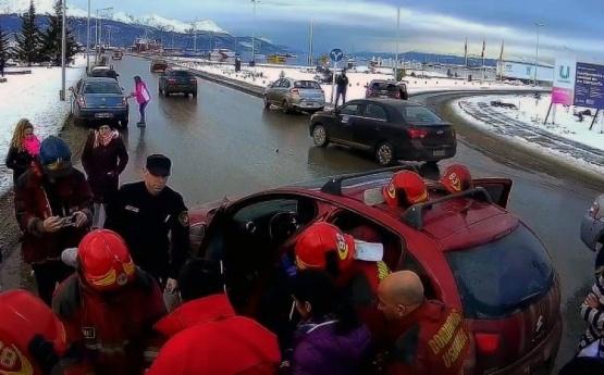Menor golpeada en el choque en Ushuaia