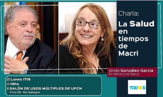 González García estará este lunes en el ciclo de debates
